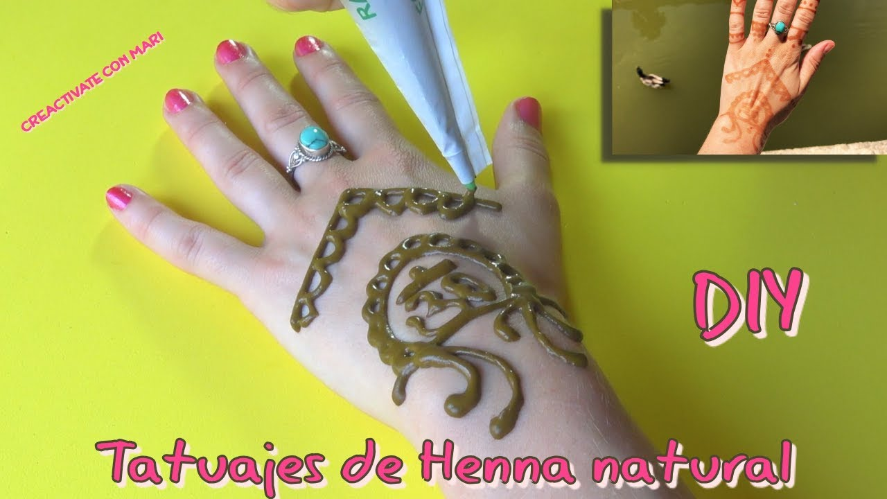 Como Hacer Tatuajes De Henna Natural Henna Tattoo Youtube