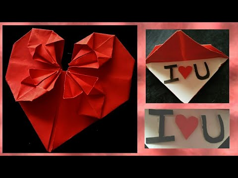 How to Make Paper Heart Card Gift For Boyfriend / girlfriend
