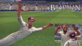 Don Bradman Cricket 14 Career - Unbelievable Catch