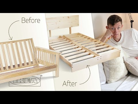 Turning And Ikea Futon Into A Bed Frame