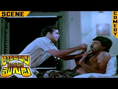 Brahmanandam Forcing Chiranjeevi to Drink | Attaku Yamudu Ammayiki Mogudu Movie