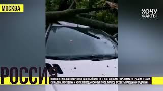 Ураганище! Ой, ужас! москвичи поделились самыми яркими видео урагана с потопом | Хочу Факты