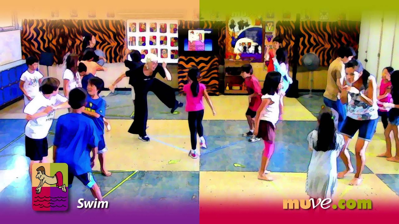 elementary school movement activity and agility game weaving