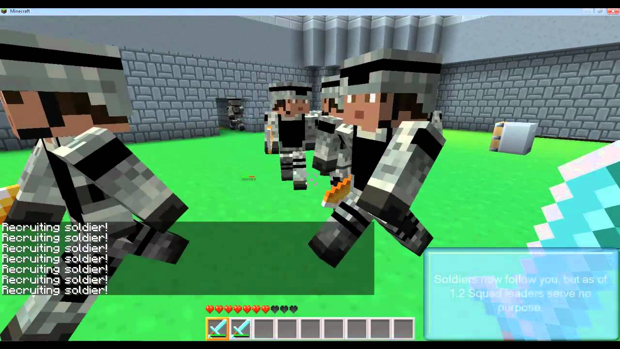 Minecraft Military Mod V YouTube - Minecraft soldaten spiele