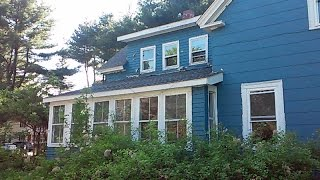 Blue abandoned house Foreclosure (Got Caught)