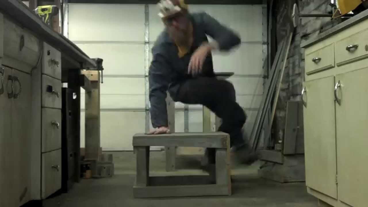 Make Your Own Free Reclaimed Wood Furniture Ep. 5   Patio Table/stool Combo    YouTube