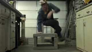 Make Your Own Free Reclaimed Wood Furniture Ep. 5 - Patio Table/stool Combo