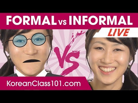 Korean Informal vs Formal language! Politeness Levels 🔴   Learn Korean LIVE @1pm KST on Thu.