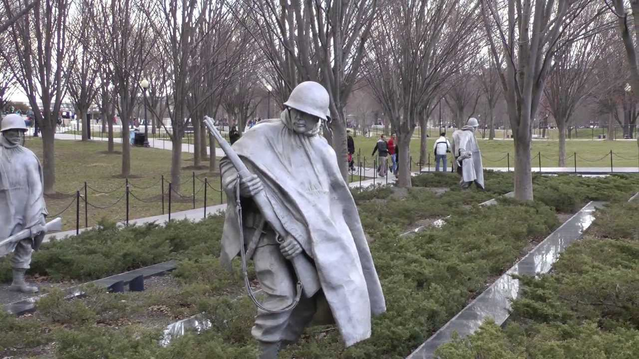 Korean War Memorial In Washington Dc Youtube