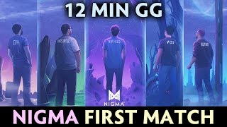Nigma FIRST OFFICIAL GAME on MAJOR — 12 min GG