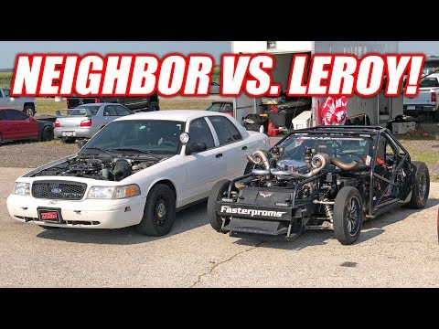 Roll Racing with Neighbor, Leroy, SketchyVert and 1320Video's ZR1!