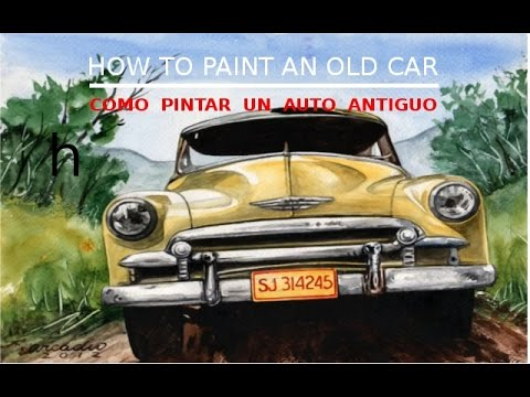 How to paint an old car c mo pintar un viejo auto youtube - Pintar terrazo viejo ...