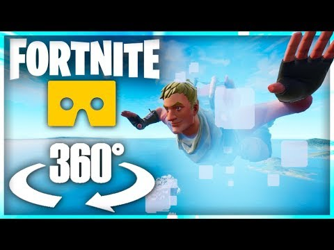 Fortnite Skydiving In Virtual Reality - 360° Video