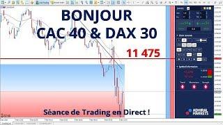 #DAX30 CFD - Séance de Trading en Direct - Bonjour CAC40 & DAX30 le 09/11