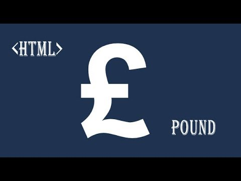 HTML Pound Symbol Currency