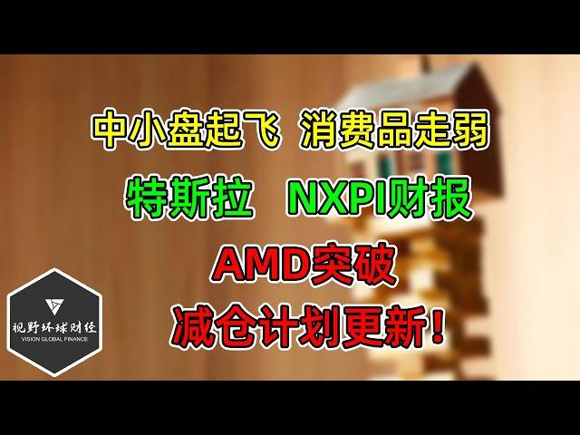 美股 中小盘起飞!消费品弱!AMD突破!特斯拉、NXPI财报!减仓计划更新!