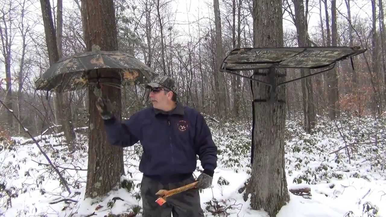 Tree Stand Rain Canopies Youtube