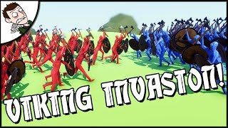 VIKING INVASION OF ENGLAND! Totally Accurate Battle Simulator Gameplay