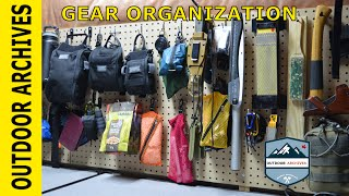 Gear Storage and organization