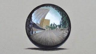 Cómo dibujar una esfera cromada con colores- Arte Divierte