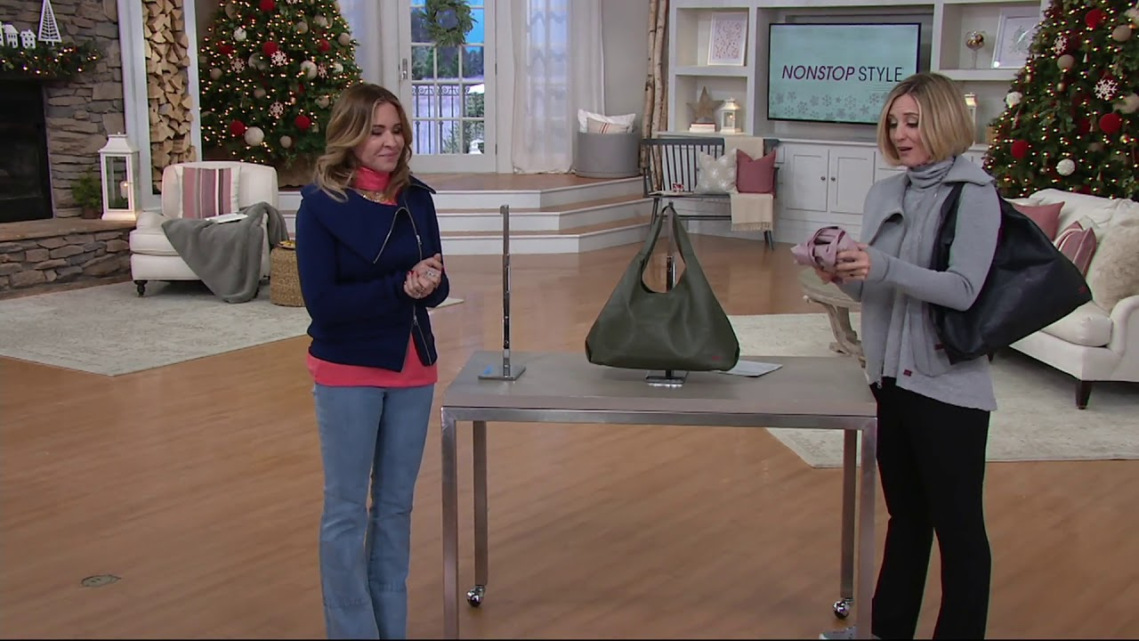 Peace Love World Slouchy Tote Bag On Qvc