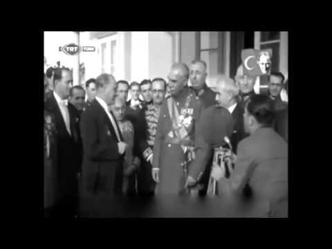 Atatürk İran şahı Reza Pahlavi ile