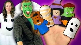 Halloween Finger Family Song | Monster Finger Family Nursery Rhymes