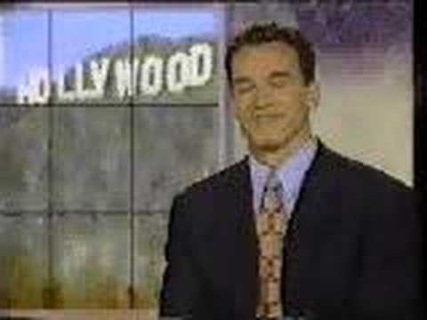 Arnold Schwarzenegger laughing...