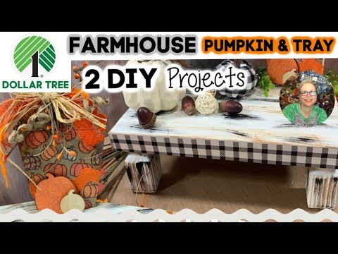 DOLLAR TREE Farmhouse Wood Pumpkin & Tracy  || Inspired by The Latina Next Door || Rustic Fall DIYs