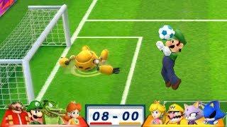 Mario & Sonic At The London 2012 Olympic Games Football #137 Daisy, Vector, Luigi, Dr Eggman