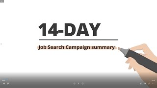 14-day Job Search Campaign summary
