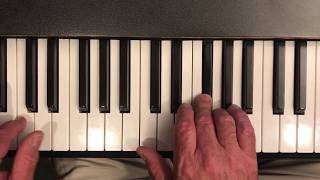 Harbourside Blues - Michael Creber (piano tutorial)