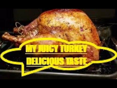 HOW TO COOK TURKEY WITH GARLIC, HERBS AND BUTTER ROASTED.