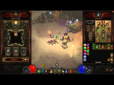 How to Convert Gems With Kanai's Cube - Diablo 3 - 2.3.0 PTR Preview - YouTube