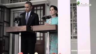 Barak Obama meets Daw Aung San Suu Kyi in Yangon
