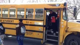 Kansas City School Bus Avoiding Dog In Street Gets Rear-ended By Second Bus