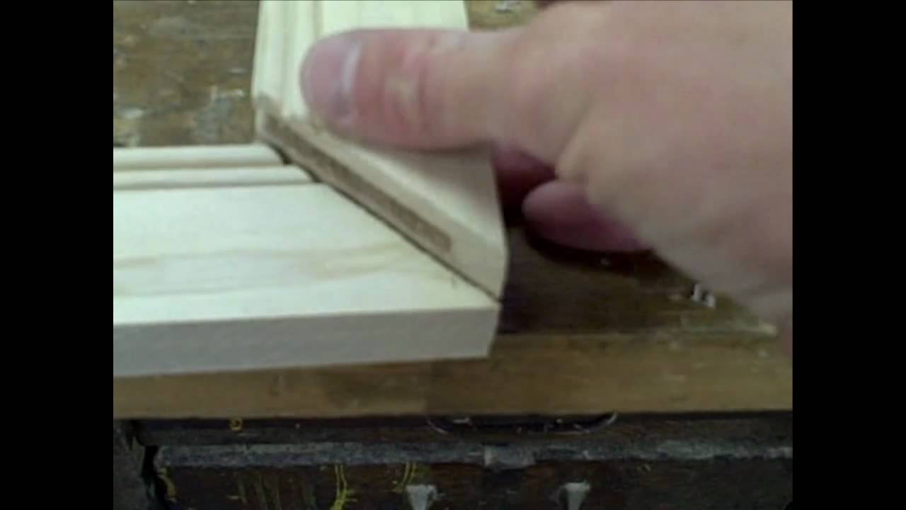 How To Make Mitered Cabinet Doors Youtube