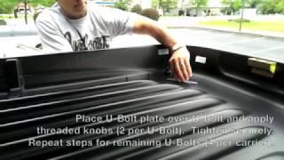 X-Cargo Car Top Carrier - U-Bolt Mounting Installation