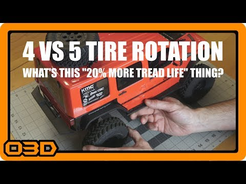 4 vs 5 Tire Rotation and How to Get 20% More Mileage from Your Tires - A Practical Demonstration