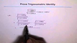 Trigonometric Identity Square Root Cosine 67