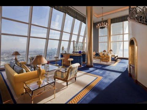 Burj al arab panoramic suite youtube for Burj al khalifa hotel rooms