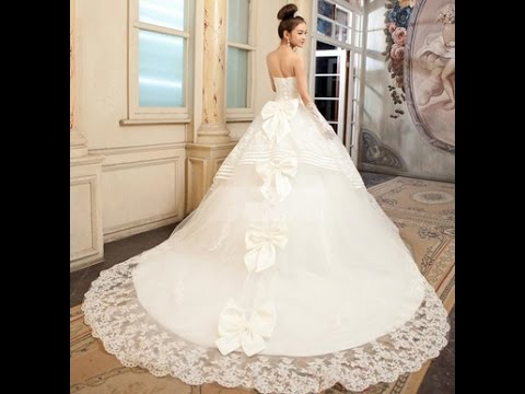 9960febd5e1b7 بدل عرائس فخمة - صور اجمل فساتين زفاف - YouTube