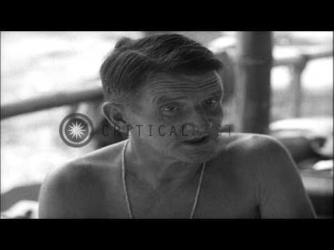 Walter Kane shares his experiences as a prisoner during an  interviewed at 118th ...HD Stock Footage