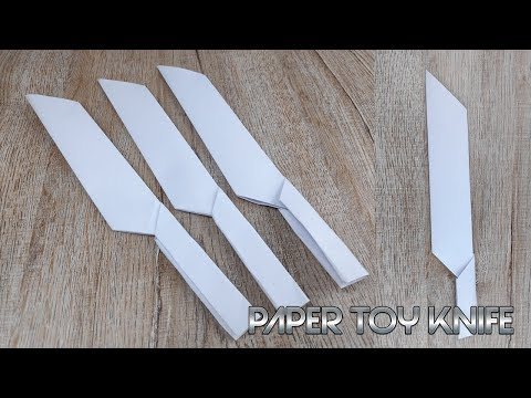 DIY Paper Toy Knife | How to Make Paper Weapons Tutorials | Origami Craft for Kids
