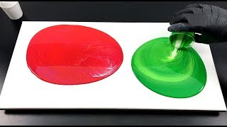 Acrylic paint pouring - Double swirl technique