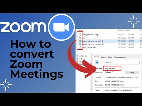 How to convert Zoom Meeting Videos to Mp4 formats