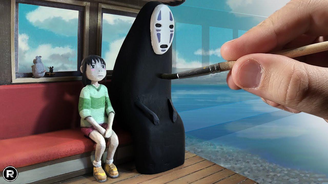 Creating SPIRITED AWAY diorama / Train scene