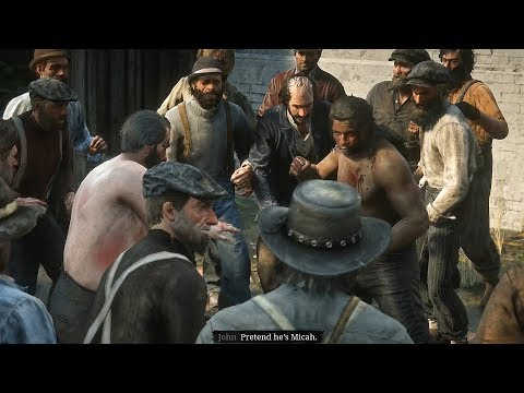 Red Dead Redemption 2 - Charles Street Fighting Cutscene (RDR2 2018)