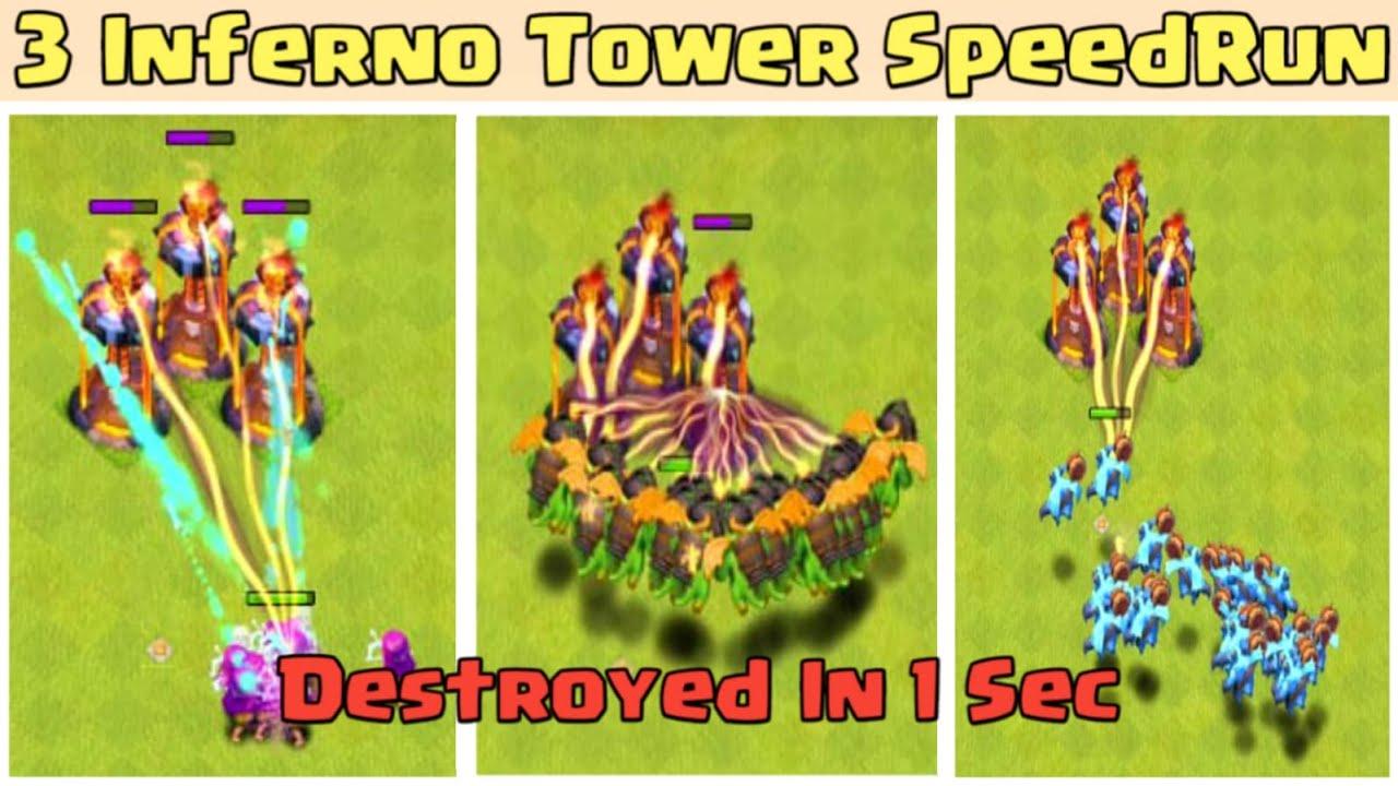 x3 Inferno Tower SpeedRun Challenge On Coc||SpeedRun Tournament||Coc||Clash Of Clans||Coc Challenge|