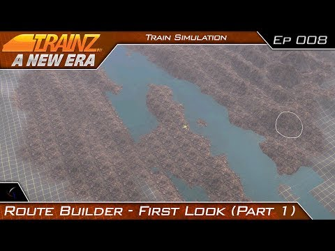 Route Creation Tool First Look (Terrain and Water) | Trainz: A New Era | #8